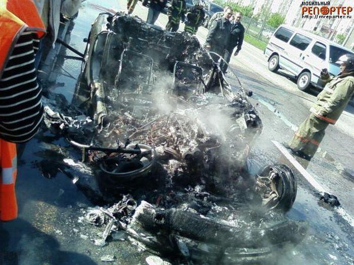 Russian ferrari got burned down 7
