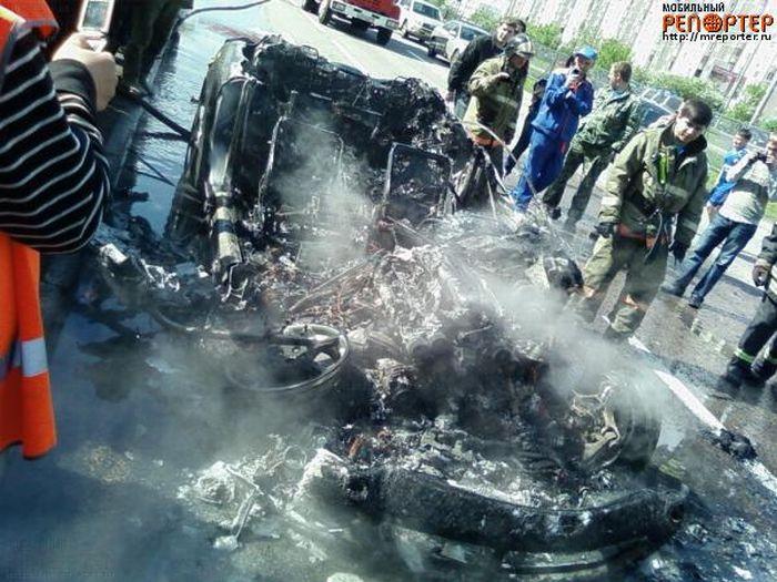 Russian ferrari got burned down 8
