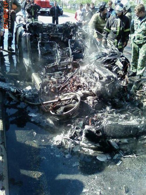 Russian ferrari got burned down 9