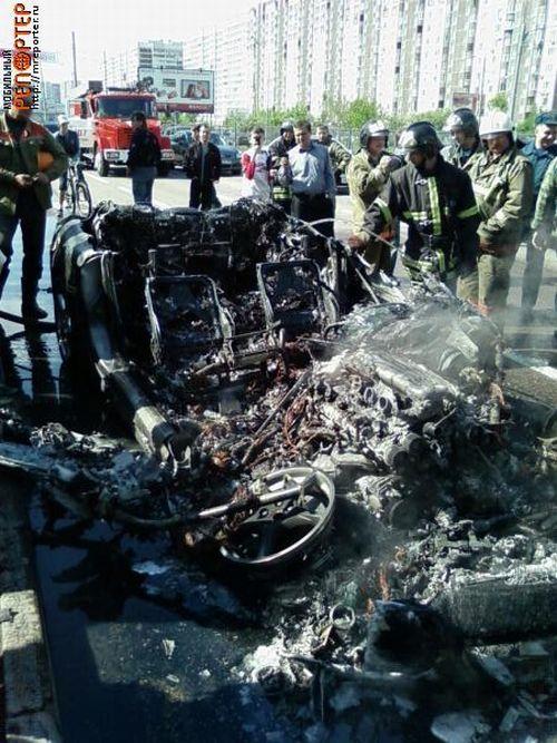Russian ferrari got burned down 10