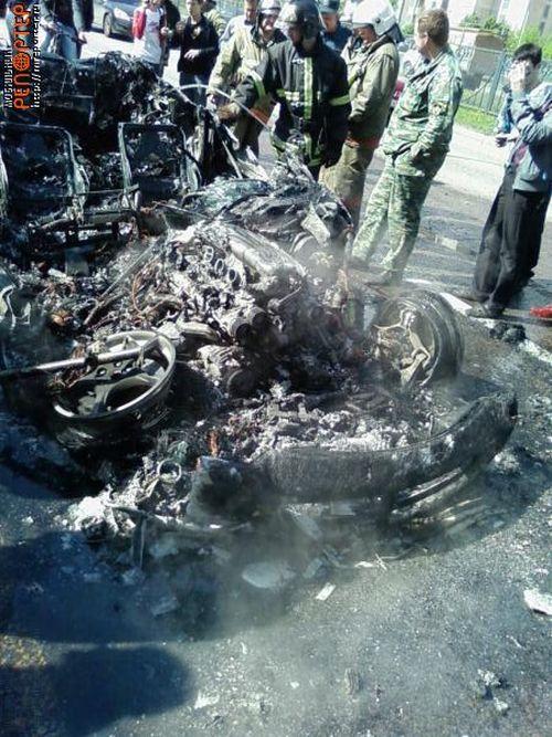 Russian ferrari got burned down 11