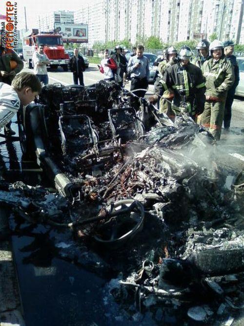 Russian ferrari got burned down 13