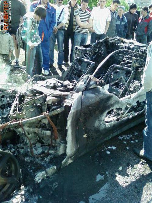 Russian ferrari got burned down 14
