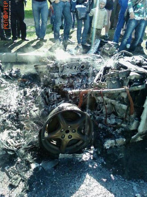 Russian ferrari got burned down 16