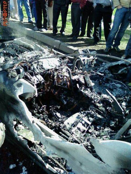 Russian ferrari got burned down 18