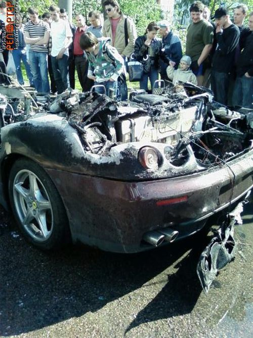 Russian ferrari got burned down 19
