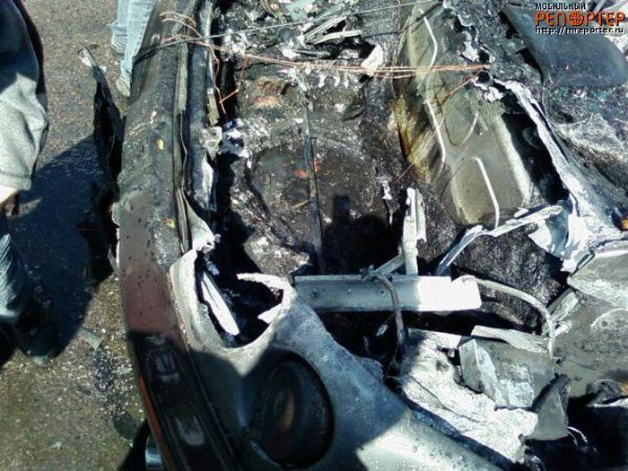 Russian ferrari got burned down 21
