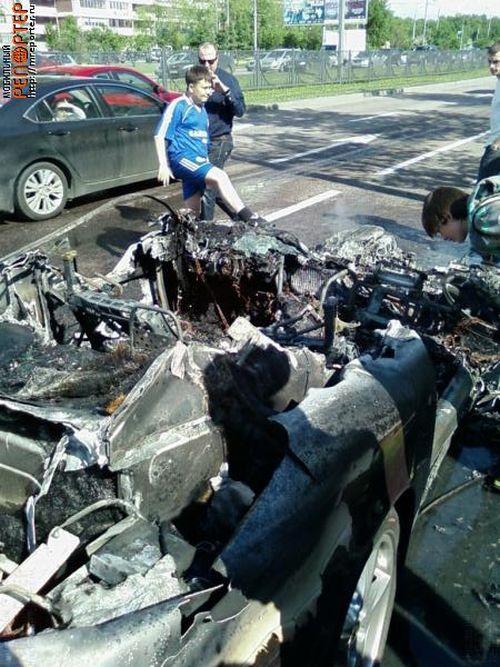 Russian ferrari got burned down 23