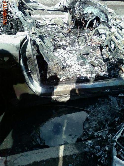 Russian ferrari got burned down 25