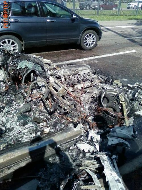 Russian ferrari got burned down 26