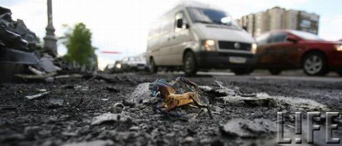 Russian ferrari got burned down 30