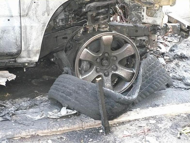 Russian toyota burned down 1