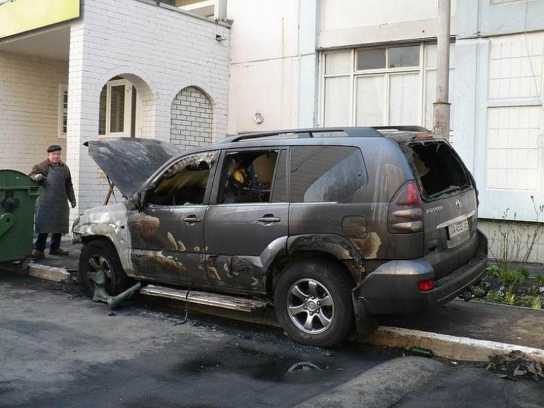 Russian toyota burned down