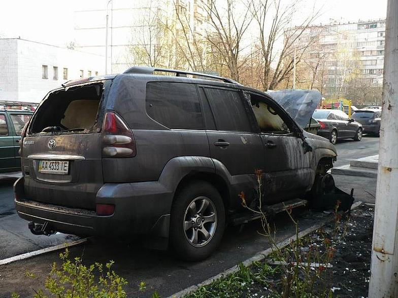 Russian toyota burned down 4