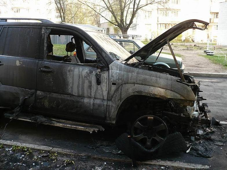 Russian toyota burned down 5