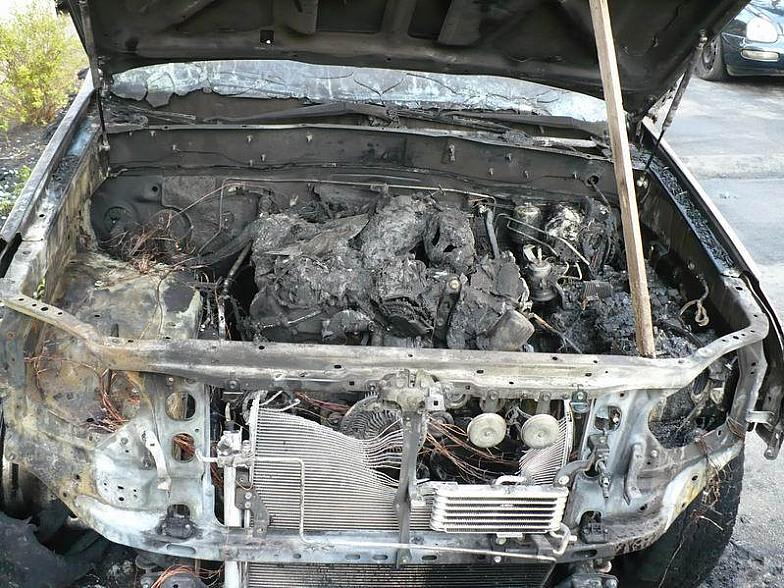 Russian toyota burned down 6