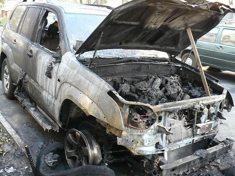 Russian toyota burned down 7