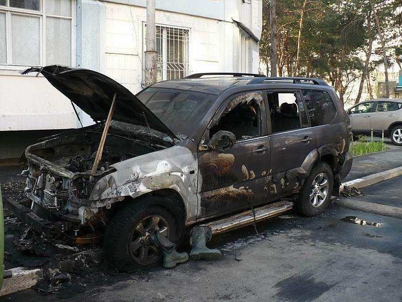 Russian toyota burned down 12