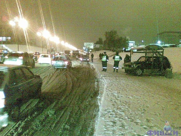 Parking at the bus stop in Russia 5