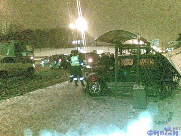 Parking at the bus stop in Russia 2