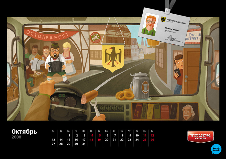 Russian calendar with different countries 10