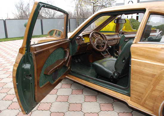 Russian car made of wood 4