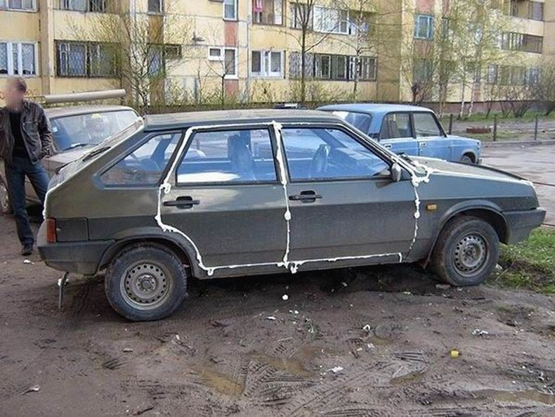 Spoiled cars in Russia 11