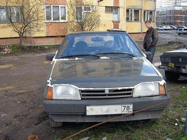 Spoiled cars in Russia 7