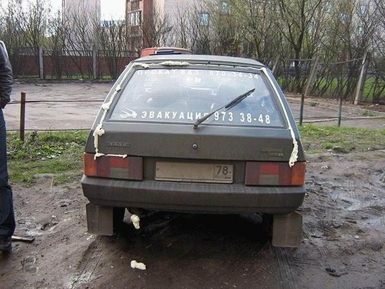 Spoiled cars in Russia 8