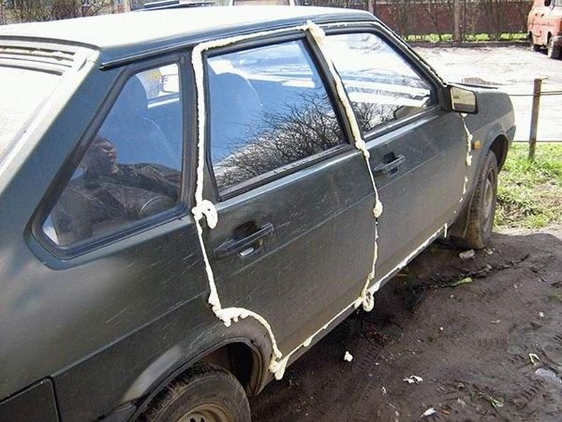 Spoiled cars in Russia 9