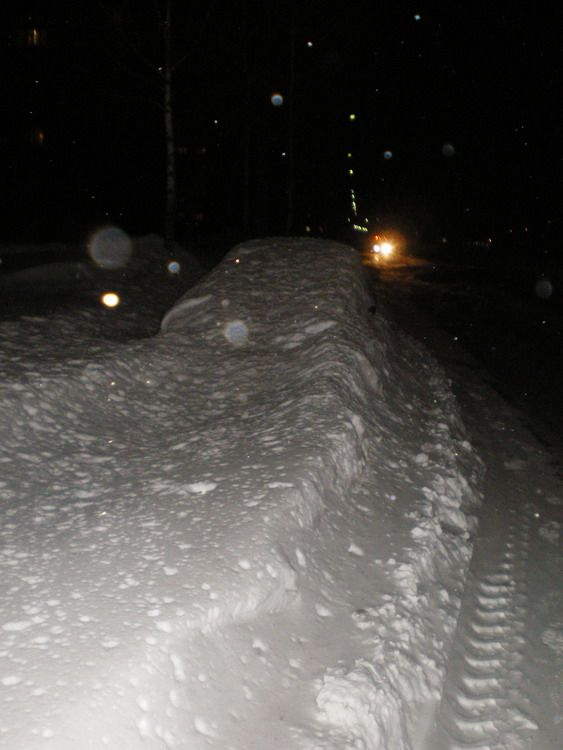 car in snow in Russia 5