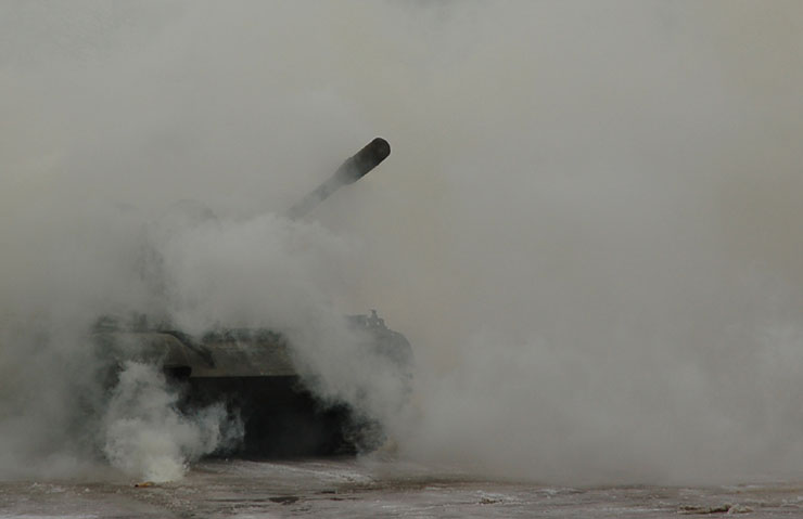 Russians smash American cars with a tank! 5