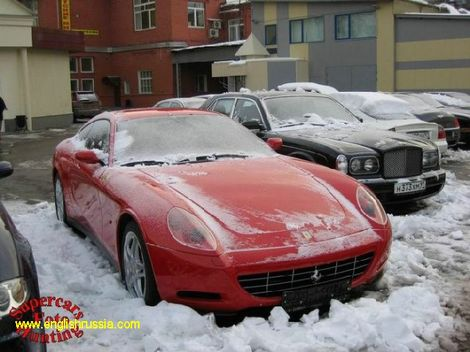 aston martin in snow
