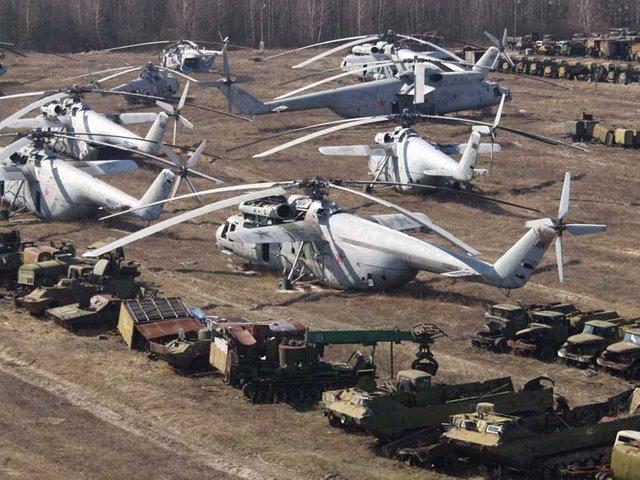 Abandoned Russian army scrap metal 1