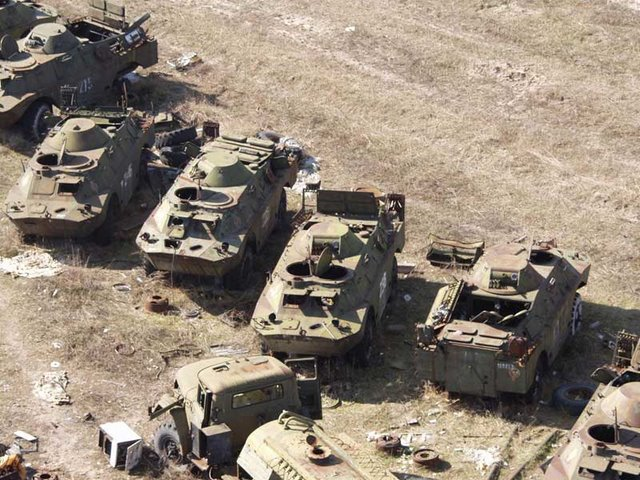 Abandoned Russian army scrap metal 3