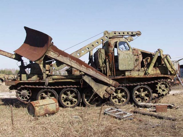 Abandoned Russian army scrap metal 5