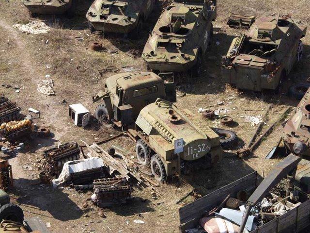 Abandoned Russian army scrap metal 6