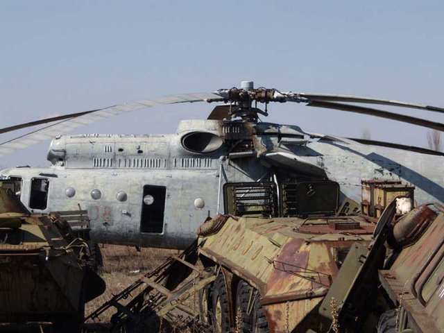 Abandoned Russian army scrap metal 7