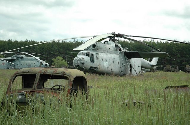 Abandoned Russian army scrap metal 8