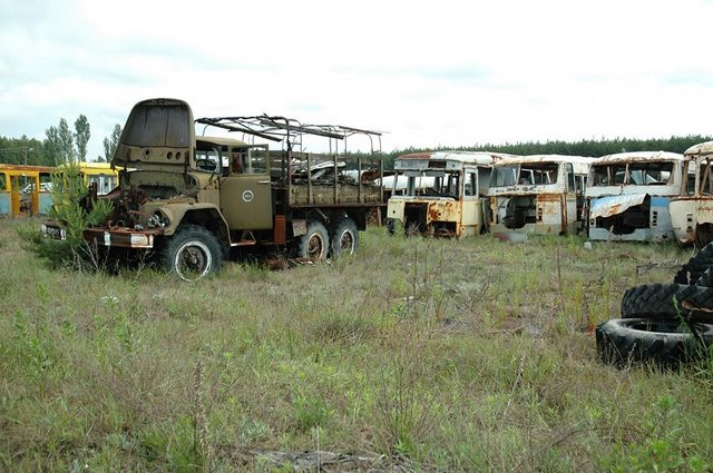 Abandoned Russian army scrap metal 10