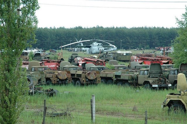 Abandoned Russian army scrap metal 11