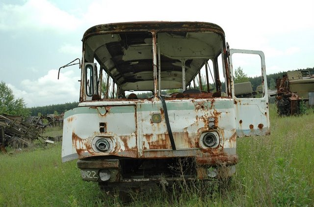 Abandoned Russian army scrap metal 14