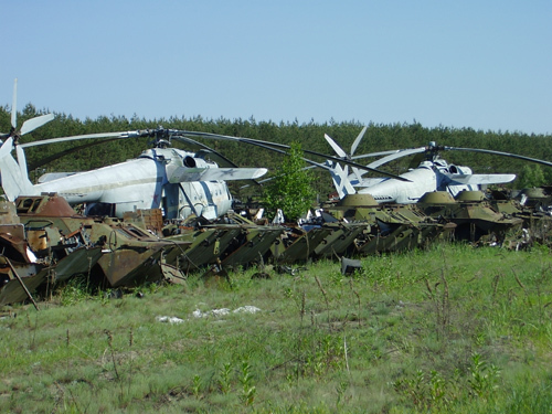 Abandoned Russian army scrap metal 17