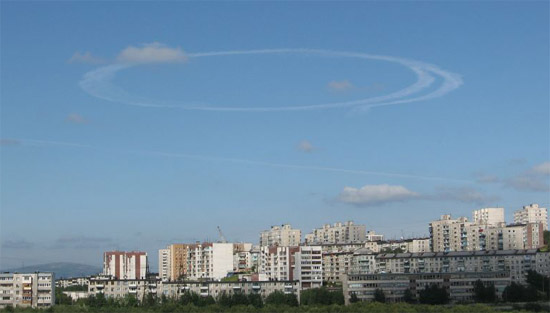 strange sky circles were spotted in Murmansk city 1
