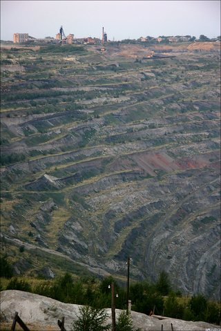 open coal mine