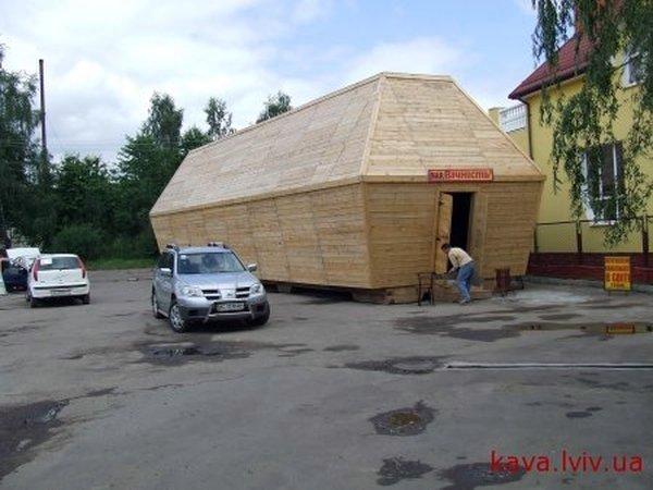 Russian coffin shaped resaurant in Ukraine 2