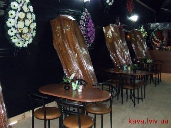 Russian coffin shaped resaurant in Ukraine 9