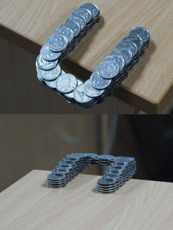 Russian coins in Ukraine
