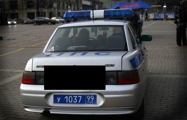 Russian police car, it's cool