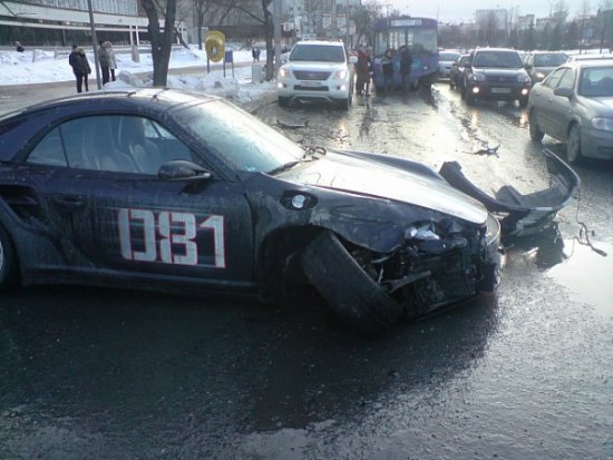 Russian porsche crashed 3